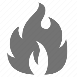 burn, fire, flame, hot, shopping, sticker icon