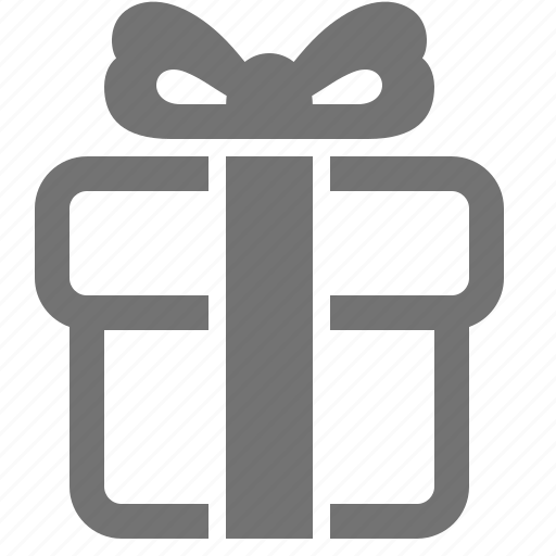 Birthday Box Christmas Donation Gift Present Icon