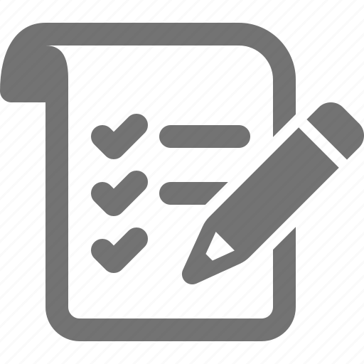 check, list, mark, pencil, sheet, shopping, task icon