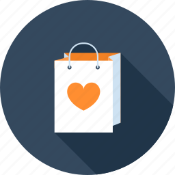 bag, commerce, ecommerce, heart, love, retail, shopping icon