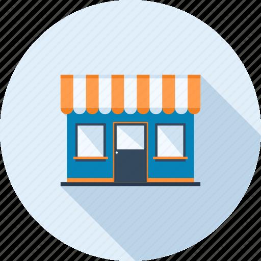 building, commerce, market, marketplace, shop, shopping, store icon