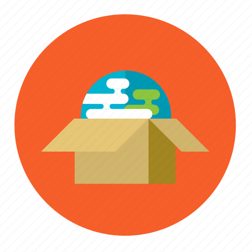 box, delivery, global, online, package, shopping, trade icon