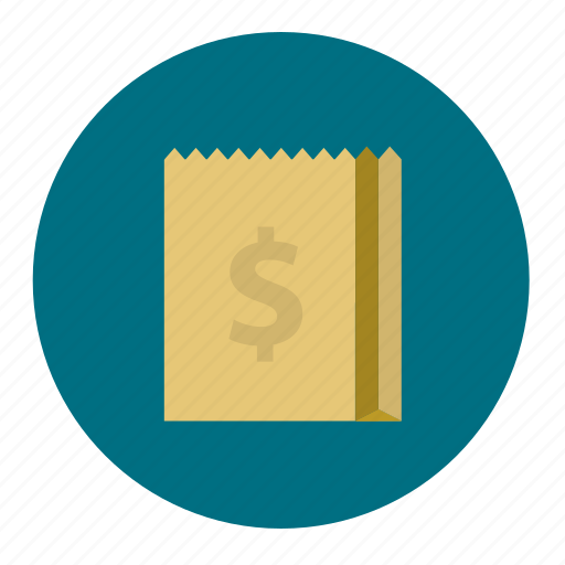 bag, carry, money, paper, purchase, shopping icon