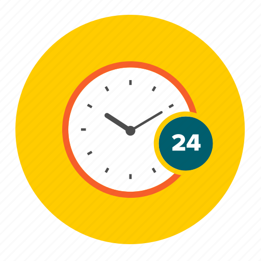 clock, hours, opening, round, time, twenty four, watch icon