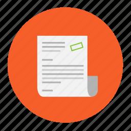 buy, invoice, memo, paper, purchase, transaction, value icon