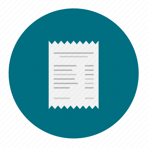 invoice, paid, paper, quotation, receipt, shopping, transaction icon