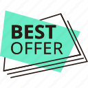 best, discount, offer, price, sale, shopping, sticker icon