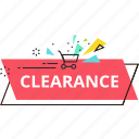 clearance, discount, offer, price, sale, shopping, sticker icon