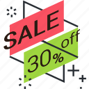 discount, offer, price, ribbon, sale, shopping, sticker icon