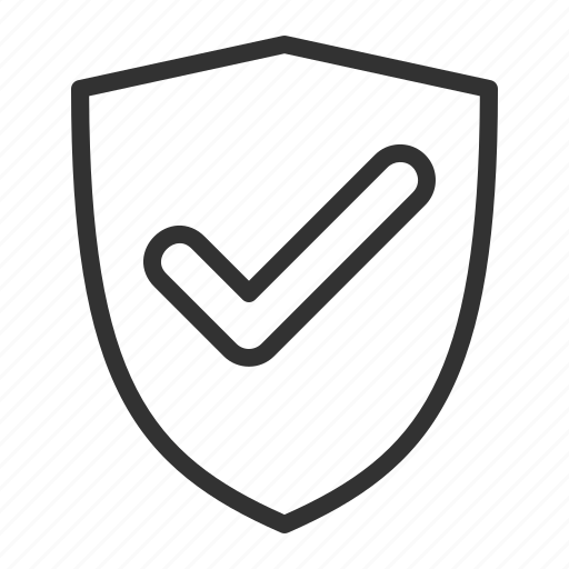 check, ecommerce, protection, safe, security, shield, shopping icon