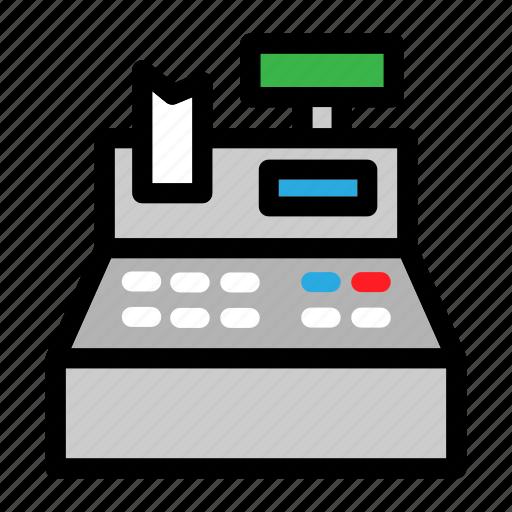 business, cashier, commerce, machine, supermarket icon