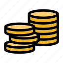 cash, coin, currency, mint, stack