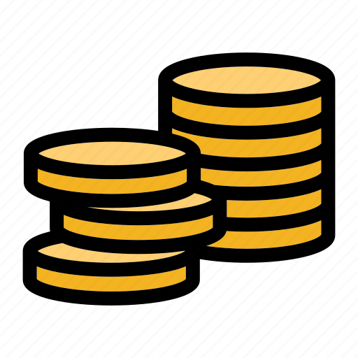 cash, coin, currency, mint, stack icon