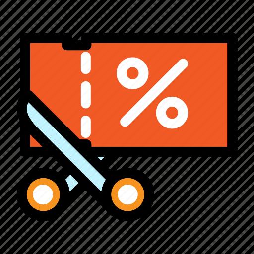 commerce, coupon, discount, ticket, voucher icon