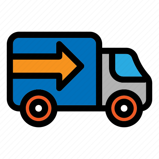 cargo truck, delivery, transport, truck, vehicle icon