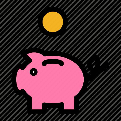 bank, business, cash, piggy bank, savings icon