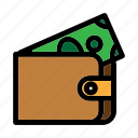 billfold, commerce, finance, holder, wallet icon