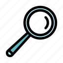 loupe, magnifying glass, searching, tools and utensils, zoom icon