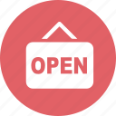 finance, open, open shop, sale icon