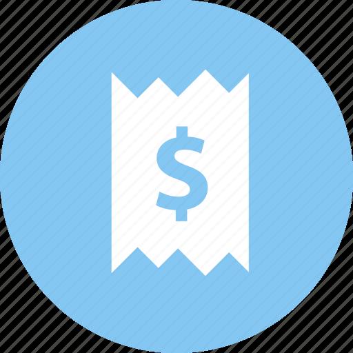 buy, finance, invoice, order, receipt, sale icon