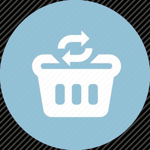 finance, marketing, refresh cart, sale, shopping cart, shopping market, update cart icon