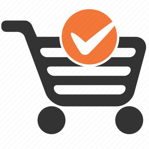 basket, cart, completed, shopping icon