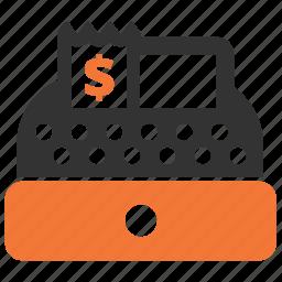 cash, cash till, check-till, money, register icon