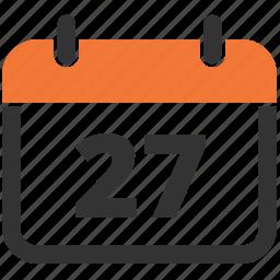 calendar, date, delivery date, estimated icon