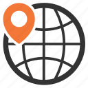 worldwide, search, local, store icon