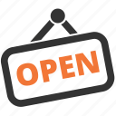 open, opened, store, tablet icon