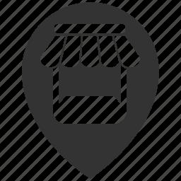 location, pin, shop, store icon