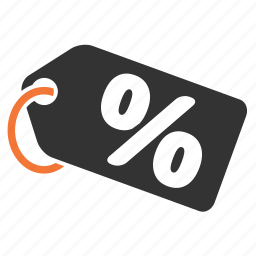 label, percentage, sale, tag icon