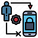 encrypt, online, protect, safety, security icon