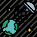 satellite, network, online, comprehensive, signal icon