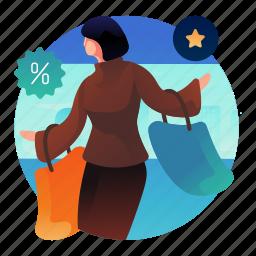 discount, percentage, shop, shopping, woman
