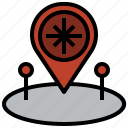and, maps, placeholder, point, pointer icon