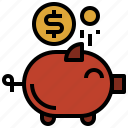 bank, coin, funds, money, piggy, save, savings