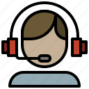 assistance, call, center, delivery, headset, phone icon