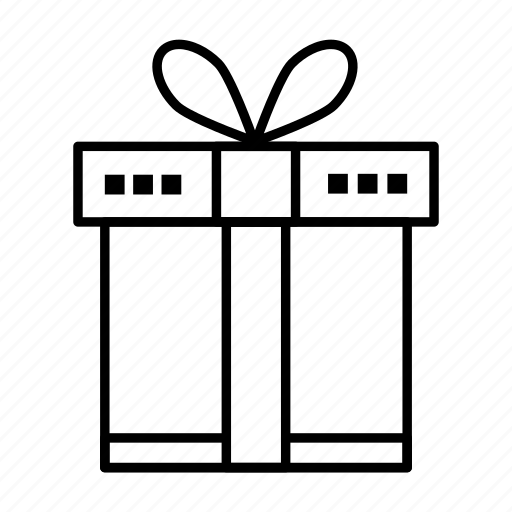 box, gift, ribbon, shopping icon