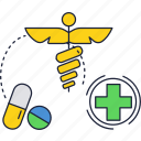drug, medicine, pharmacy, sign, store icon