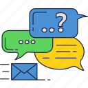 app, chat, mail, messages, messaging icon