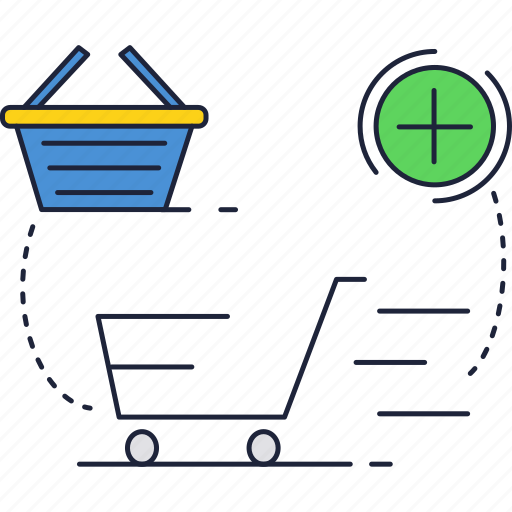 basket, cart, shopping icon