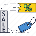 percentage, promotion, sale, tag icon