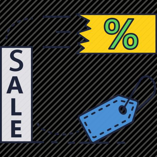 percentage, promotion, sale, tag icon
