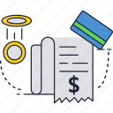 bill, card, credit, money, shopping, slip, tag icon