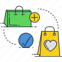 bags, gift, package, shopping icon