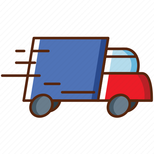 car, delivery, package, shipping, shop, shopping, truk icon