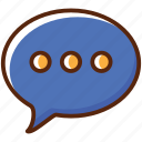 comment, market, shop, shopping, talk icon