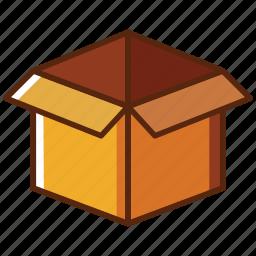 box, delivery, open icon