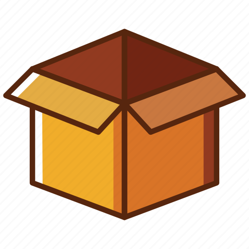 box, delivery, open icon